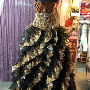 Black and brown sweet 16 dress